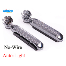 12V 8 LED Wind Auto-light Turbine Powered Car Exterior Light Bar Fog Light Motorcycle Vehicle Decorative Lamp For Light