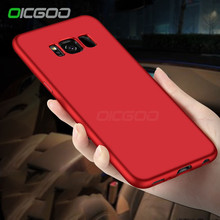 OICGOO Luxury TPU Full Cover Cases For Samsung Galaxy S7 Edge S7 Case Soft Silicone Case For Samsung Galaxy S8 S8 Plus Cases(China)