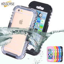 KISSCASE Sport Waterproof Swim Diving Case for Apple iphone 4 4S 5 5S SE Clear Front Back Cover Shockproof Accessories Strap