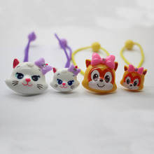 Fahionable resin cute cats elastic hair bands different size accessories ponytail holders scrunchies for girls hair ornament