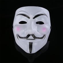 High Quality V For Vendetta Mask Resin Collect Home Decor Party Cosplay Lenses Anonymous Mask Guy Fawkes(China)