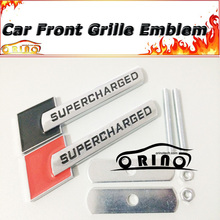 3D Supercharged Car Front Grille Emblem Badge For Ford Chevrolet Volkswagen BMW Audi OPEL Volvo Mazda Citroen Renault Infiniti