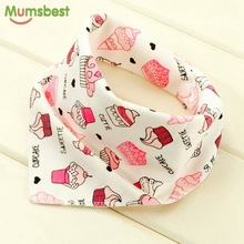 Mumsbest 100%Cotton Baby Bibs Newborn Baby Bandana Bib Double Layers Burp Cloths Boy Girl Head Scarf Cartoon Animal Babies Bibs(China)