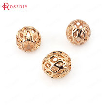 Buy 20PCS 3.5MM 5.5MM 7.5MM 24K Champagne Gold Color Plated Brass Hollow Spacer Beads Round Beads High Jewelry Accessories for $2.96 in AliExpress store