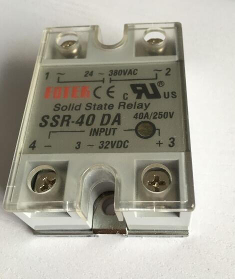 24V-380VAC to 3-32VDC 40A/250V SSR-40DA Solid State Relay Module with Plastic Cover<br><br>Aliexpress