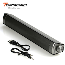 TOPROAD Wireless Bluetooth Speaker Slim Magnetic Wireless Soundbar Subwoofer Speakers Hands-free for Mobile Phones PC Tablet TV(China)