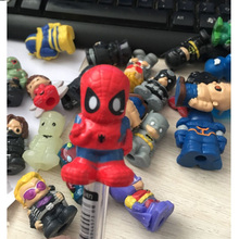Wholesale 30pcs/lot Mini Spiderman Thor figures The Avengers Dolls Action toys Cap for pen gifts