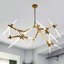 Modern LED ceiling chandelier lighting acrylic shade G9 lampholder chandeliers creative dendritic living room bedroom lighting