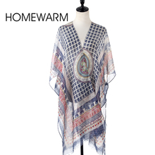New Women Summer Sunscreen Veil Scarf Silk Shawl Fashion Long Large Oversized Print Mantillas Scarves Lady's Sexy Beach