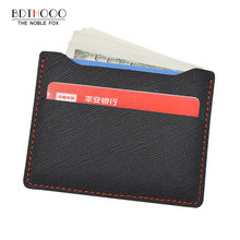 Fashion Womens Men Slim Mini Leather Credit ID Card Holder Wallet Coin Purse Bag Pouch Book Passport Cover Cash Case Pocket(China)