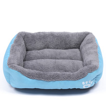 Cozy Soft Cute Pet Dog House Warm Cotton Pet Dog Beds for Cat Small Large Dogs Puppy Chihuahua Blue Green Grey Dog Bed S-3XL(China)