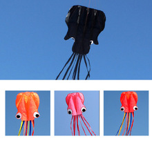Octopus Kite 4M with Flying Tools Long Soft Kite with Handle Line Outdoor Fun Sports Kite Child 5 Colors Frameless Kite