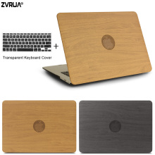 ZVRUA OAK PU Leather Laptop Cases for apple MacBook Air Pro Retina 11 12 13 15 with Touch Bar New + keyboard cover