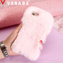 Buy Vonada Fluffy Case Apple iPhone 7 Cute Plush Fur TPU Diamond Jewelled Soft Mobile Phnoe Back Case Cover for $9.50 in AliExpress store