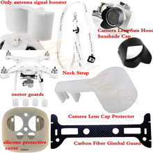 Transmitter Cover+Lens Hood+Cap+Lanyard+Carbon fiber Gimbal Guard+Motor guards+Antenna signal booster for DJI Phantom3