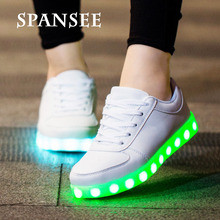 Luminous Sneakers Casual Shoes Glowing Sneakers Big Kids Children Boys Girls LED Shoes with Light Up Sole Basket LED Slippers 10