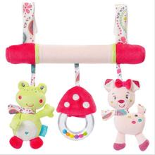 Newborn Baby Stroller Toys Crib Mobile Animals Model Baby lathe hanging wind chimes Educational Baby Rattles Plush Stuffed Toys(China)