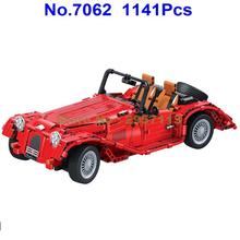 Winner 7062 1141pcs Technic Convertible Roadster Vintage Classic Car Building Block Brick Toy(China)