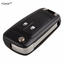 FGHGF 2Buttons Replacement Remote Case Fob Cover Flip Folding Key Shell Blank For Chevrolet Epica Lova HU100 Blade With LOGO