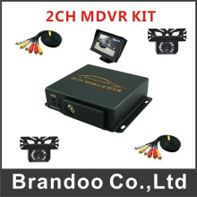 Mini Car 2CH SD DVR Video Recorder ,for car,taxi,bus used