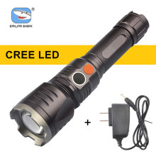 Brightest  Multifunction Self Defense Flashlight Torch with Charger