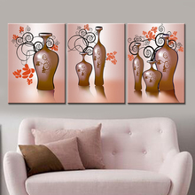 Drop-shipping Canvas Painting Decorative Picture Poster Oil Painting for Living Room Wall Flower Modern Home Decor No Frame 3pcs