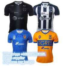 mexico Tigres UANL 2017 2018 Tigers Monterrey rugby soccer Jerseys Shirt Jersey GUERRON 9 GIGNAC 17 18 Home adult S-XXL rugby sh(China)