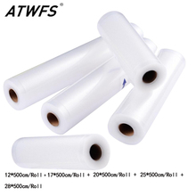 ATWFS 5 Rolls/Lot Kitchen Food Vacuum Bag Storage Bags For Vacuum Sealer Food Fresh Long Keeping 12+17+20+25+28cm*500cm(China)