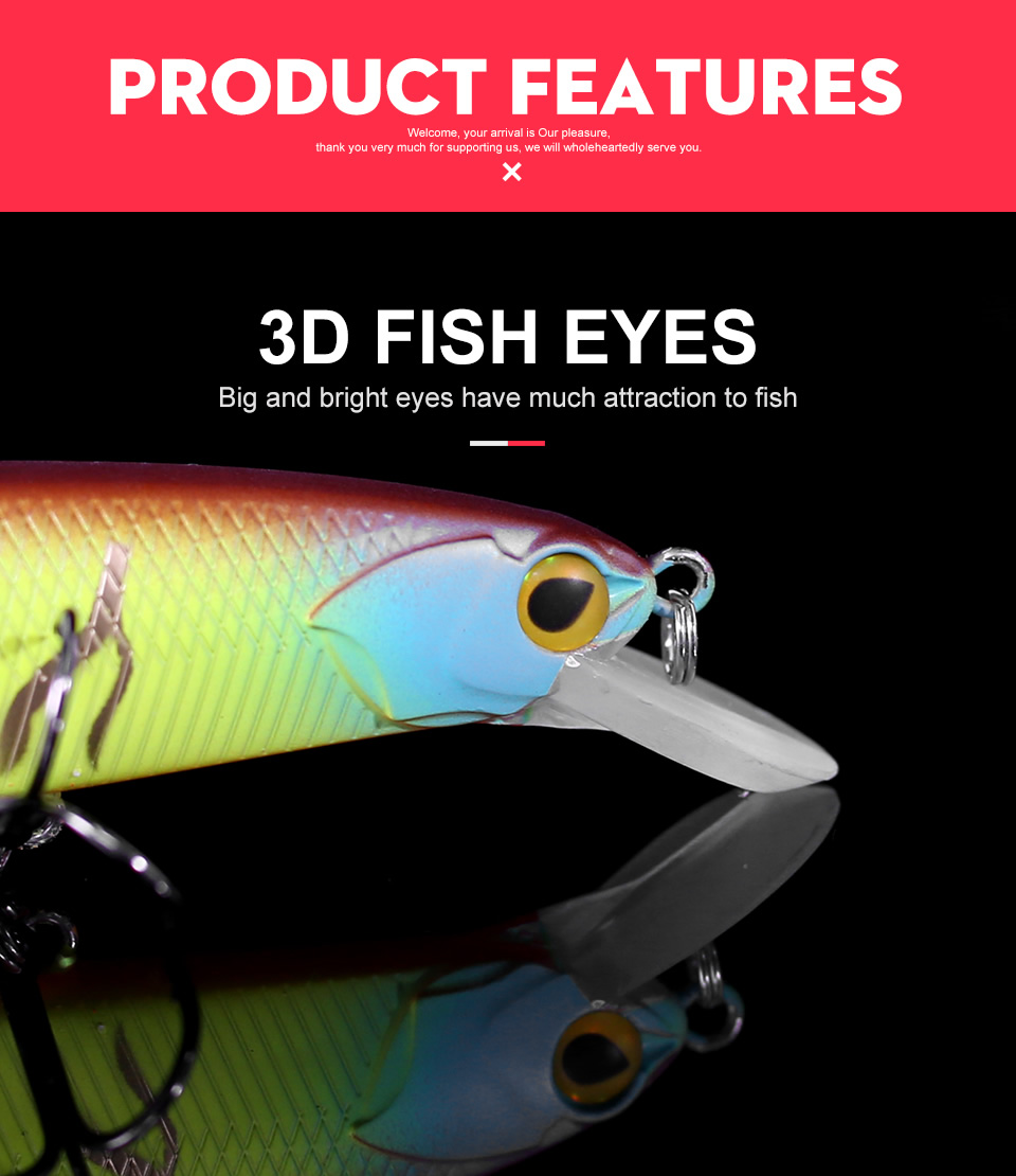 Kingdom 2018 New Hot Fishing LURE High Quality Hard Bait 130mm 20g Depth 0.8-1.5m minnow perfect action Wobblers free shipping  (4)