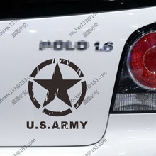 US Army Star Distressed Style Car Decal Sticker Willys United States Army Fit for Jeep etc,choose size and color!