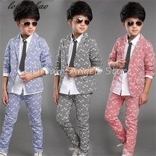 Boy kid formal suits boy blazer suit set children boy blazer jacket & pants classic suit for boy suit clothing set