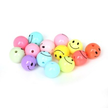 12mm/14mm/16mm/18mm DIY Round Beads Acrylic Smile Ball Spacer Plastic Beads For Bracelet Jewelry Making
