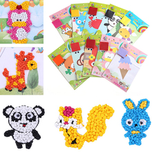 1 Pcs 3D Mosaics Creative Sticker Game Animals Transport Arts Craft Puzzle Training for Kids EVA Educational Toy(China)