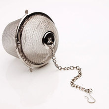 New Arrival Stainless Steel Durable Silver Reusable Stainless Mesh Herbal Ball 25g Tea Spice Strainer