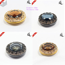 1 pcs,38mm mix  fashion metal acrylic Fur buttons, Mink coat buttons. Rhinestone buttons. big with a diamond buckle.accessory,t1