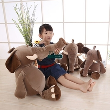 Dorimytrader 80cm Giant Plush Cartoon Elephant Plush Toy 31'' Big Stuffed Soft Baby Sleeping Pillow Kids Play Doll Gift DY61423(China)