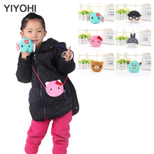 YIYOHI New Baby Girls Mini Messenger Bag Cute Plush Cartoon Boys Small Coin Purses Children Handbags Kids Shoulder Mini Bags(China)