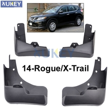 For Nissan X-Trail Rouge T32 Set Molded Car Mud Flaps 2014 2015 2016 2017 Xtrail Splash Guards Mud Flap Mudguards Fender Styling(China)