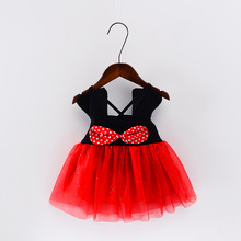 Minnie Mouse Girls Summer Dress Fashion Red White Baby Girl Princess Clothes Kids Dresses For Girls Party Birthday Costume 2017