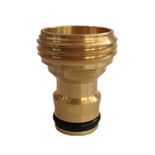 Length 3.2cm Solid Brass Threaded Hose Water Pipe Connector Tube Tap Adaptor Fitting Garden Outdoor(China)