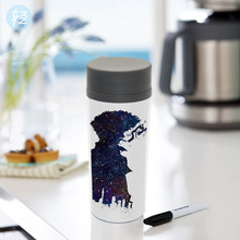Modern Plastic Insulated Watercolor Japanese Anime Cowboy Bebop Kids Water Bottle 300ml Gift BPA Free Personalized Drinkware(China)