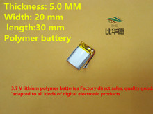 (free shipping)Battery 052030 250 mah lithium-ion polymer battery quality goods quality of CE FCC ROHS certification authority