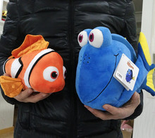 Free Shipping 1set Finding Nemo plush toys, Nemo and Dory fish Stuffed Animal Soft Plush Toy for baby gift(China)