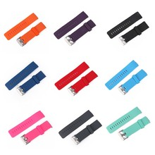 Candy Color Soft Silicon Rubber Band for Fitbit Blaze with Metal Buckle Wrist Strap Fashion Unisex Watch Band