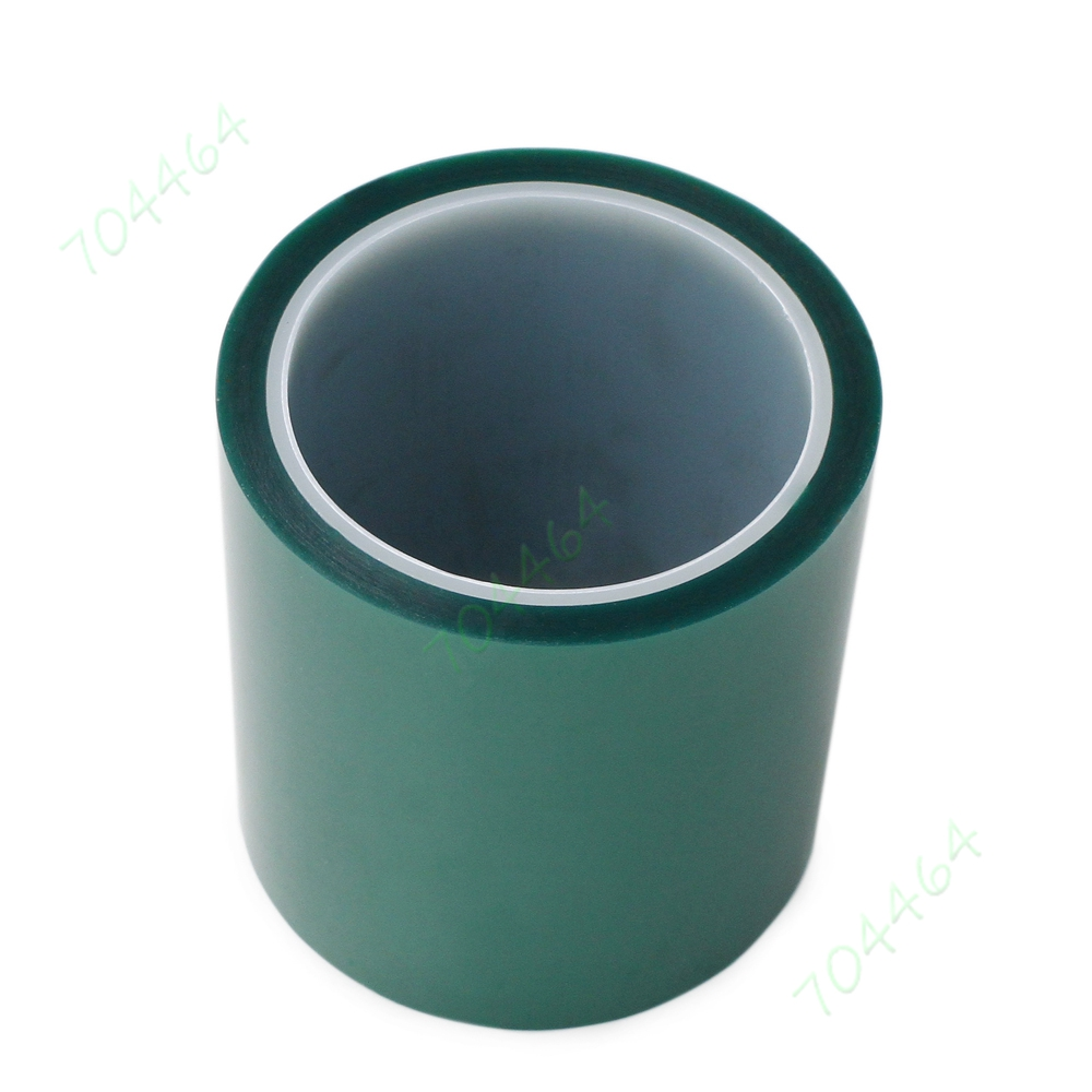 Green PET Tape Adhesive High Temperature Heat Resistant 33m 2mm x 100ft