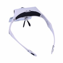 5 Pcs Lenses Headband 9892B1 Magnifier Interchangeable 2LED Head Lamps Dropshipping 2017 hot sale(China)