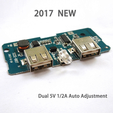 2017 NEW 5V 1A 2A Mobile Power Bank Charger Circuit Board Step Up Boost Module For DIY Double USB Output LED Indicator