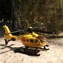 siku 1:87 Rescue first aid Helicopter model kids toys Alloy model The propeller can be turned manually Strong and durable