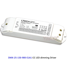 New LTECH CC DMX LED dimming Driver;DMX-25-150-900-E1A1;25W 150-900mA 200-240VAC LED Driver instead of DMX-25-180-700-F1P1(China)