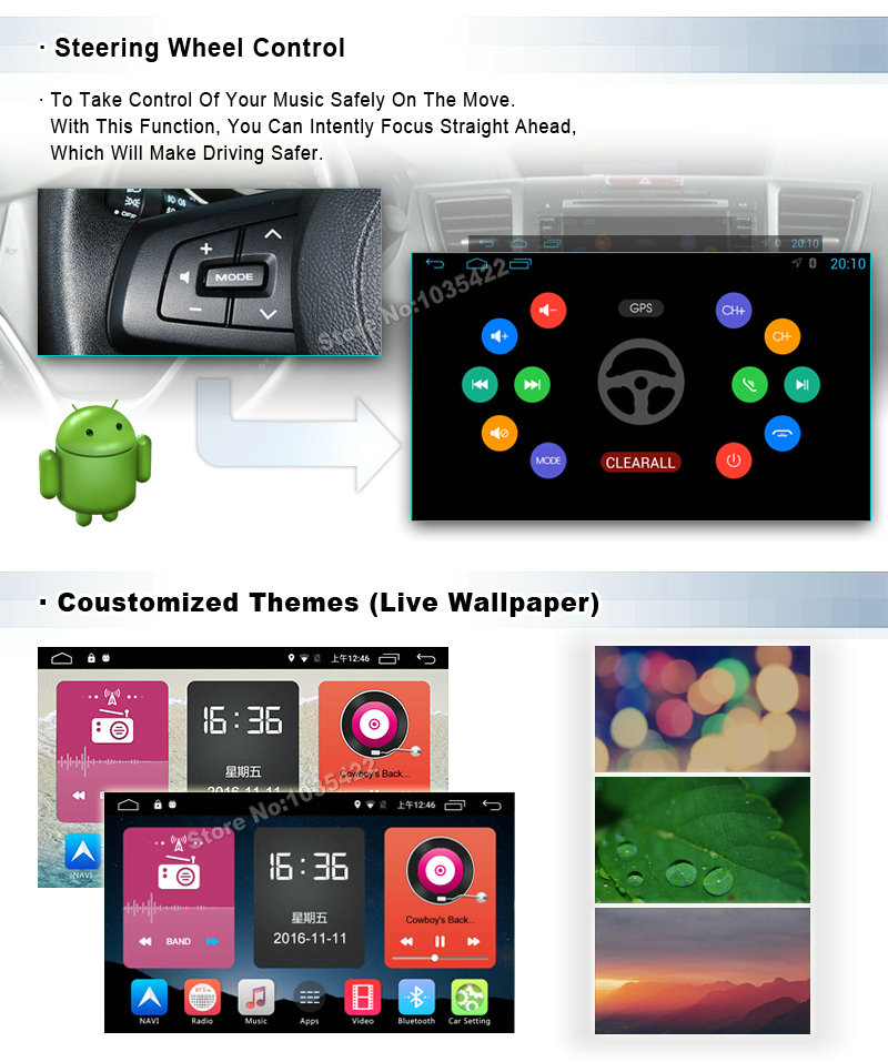 Android 6.0 CAR Audio DVD player FOR MITSUBISHI PAJERO 2006-2011 gps car Multimedia head device unit receiver support 4G BT WIFI